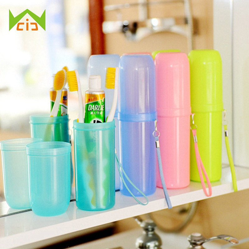 WCIC Portable Travel Toothpaste Toothbrush Holder Cap Case Household Tooth Brush Storage Cup Outdoor Holder Bathroom Accessories image