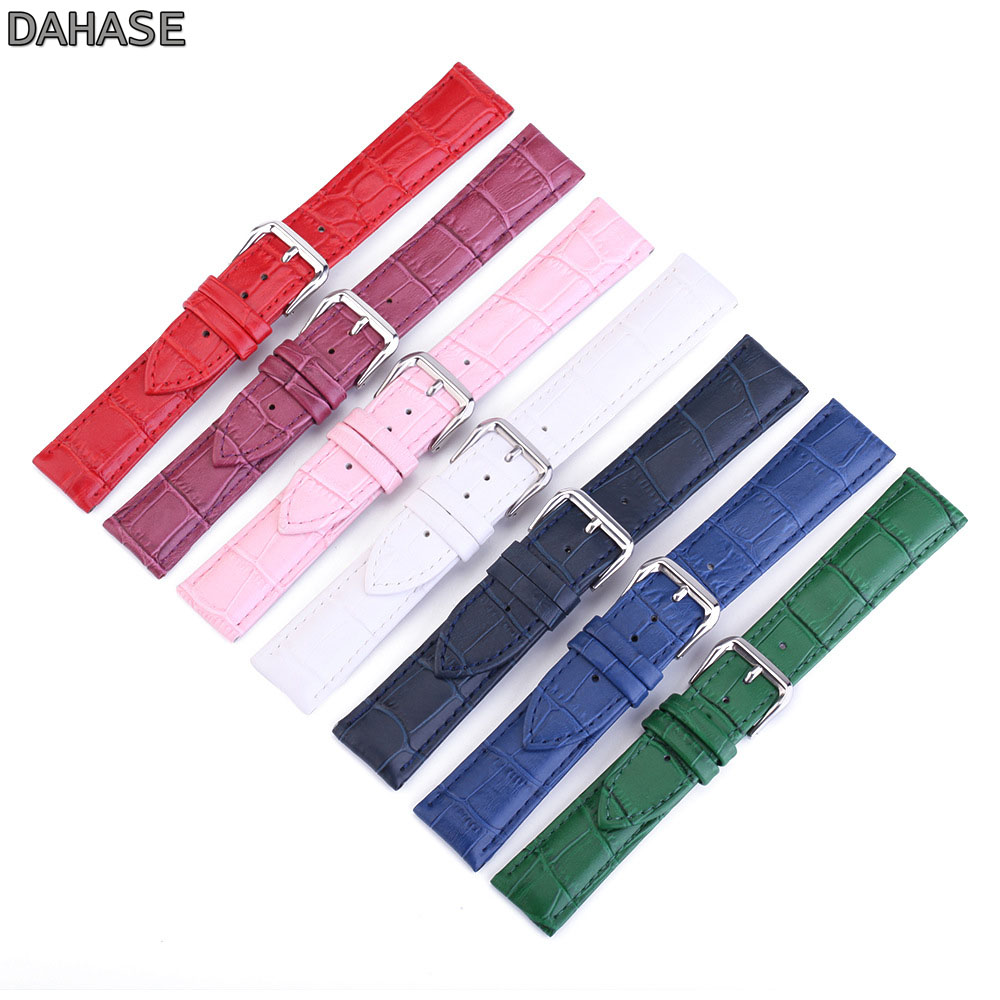 Crocodile Pattern Genuine <font><b>Leather</b></font> Strap <font><b>Watch</b></font> <font><b>Band</b></font> Watchband 12 13 14 15 16 17 18 19 20 <font><b>22</b></font> 24 <font><b>mm</b></font> <font><b>Watch</b></font> Strap Cow <font><b>Leather</b></font> <font><b>Band</b></font> image