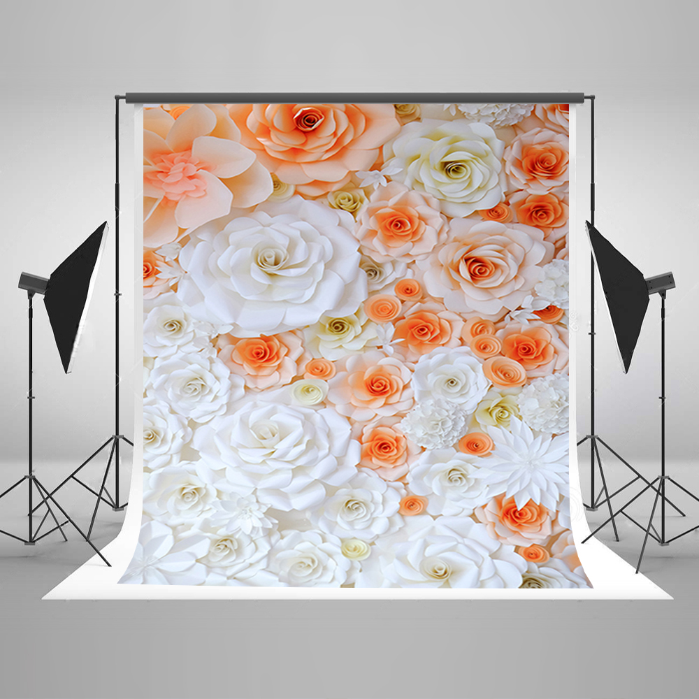 Valentine's Day Photography Backdrops Romantic White Pink Flowers Computer Printing Background Vinyl Backdrops for Photography