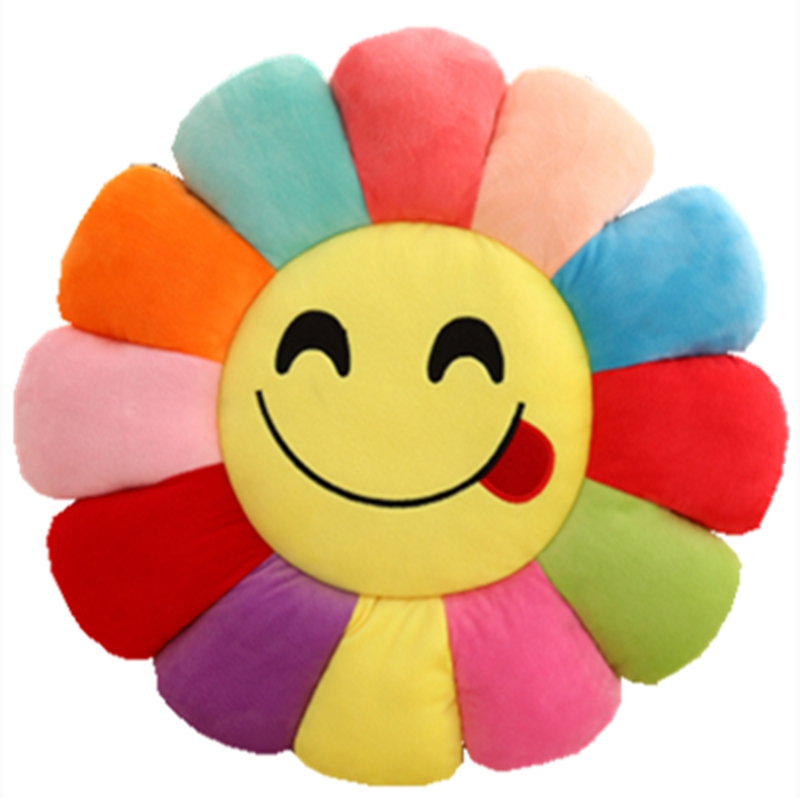 NoEnName_Null Flowers Round Ass Cute Cartoon Plush Cushion Throughout The  Office Of Student Computer Chair Pad