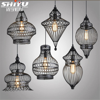 Retro Vintage Rope Pendant Light Lamp Loft Creative Industrial Lamp With E27 Edison Bulb American Country Style Lamps