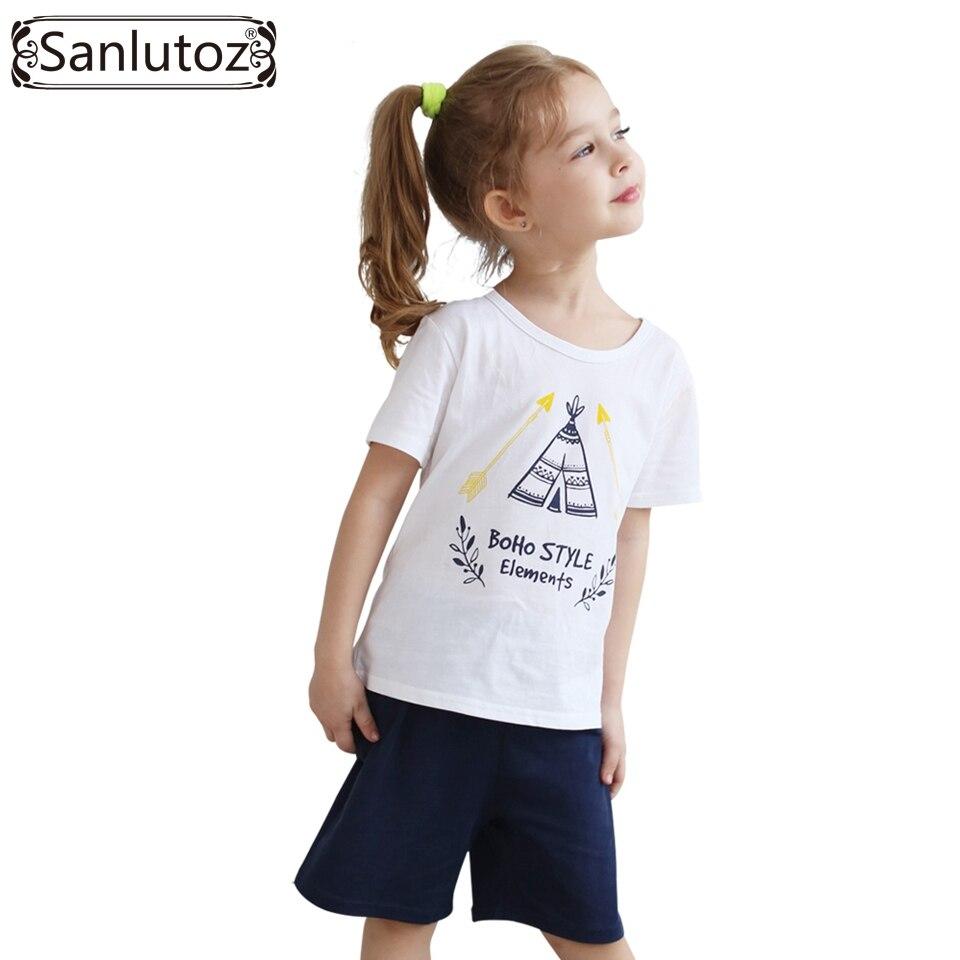 Pakaian Anak Gadis Mengatur Musim Panas Setelan Baju Lengan Panjang Ampamp Celana Jeans Lr 118c 2016 Olah Raga Katun Untuk Perempuan Balita Bayi Tshirts Pendek
