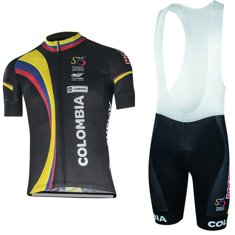 Hot new colombia team cycling wear Summer Quick Dry ropa Cycling Jersey Bike Riding Clothing Mountain shorts set with gel pads ckahsbi winter long sleeve men uv protect cycling jerseys suit mountain bike quick dry breathable riding pants new clothing sets