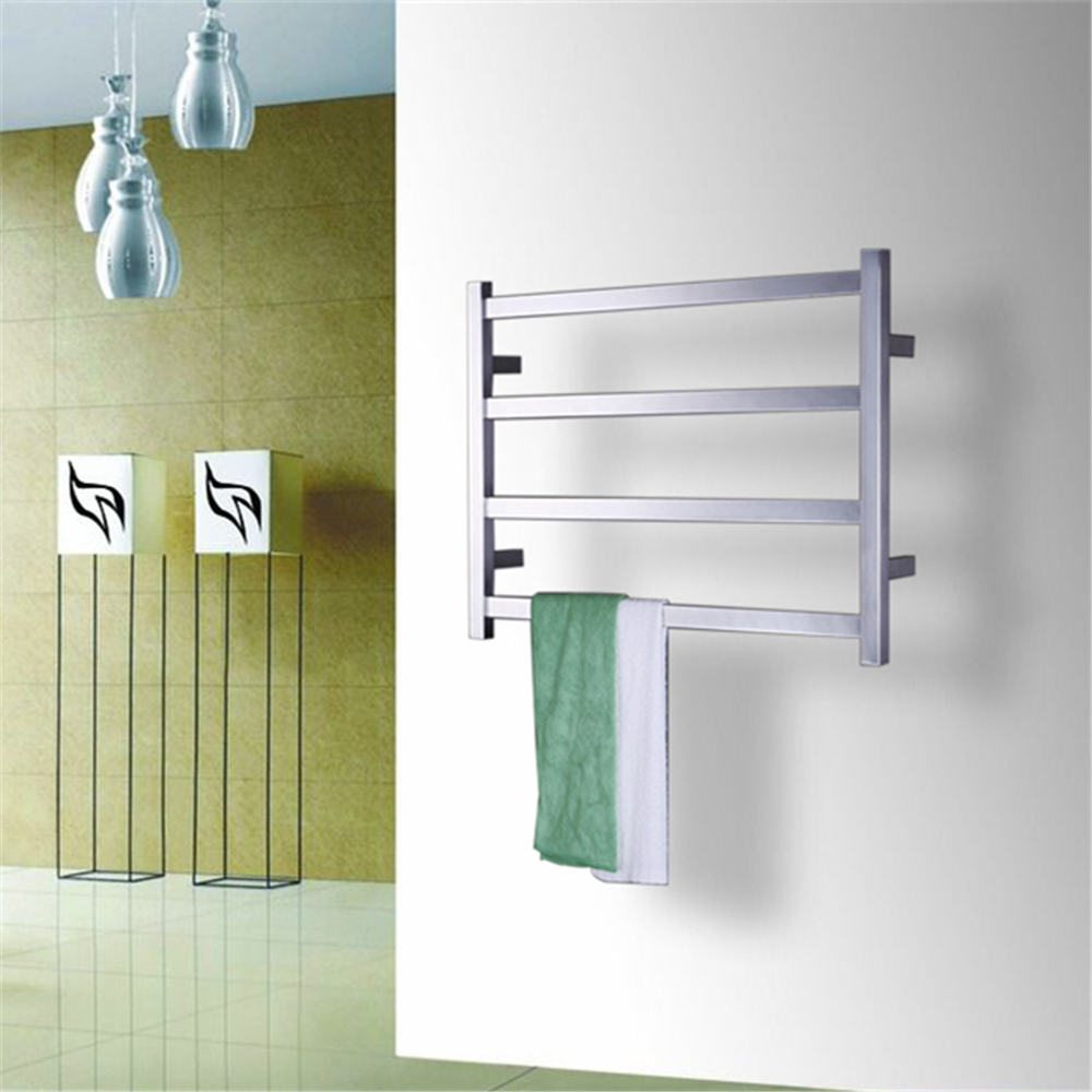 Free Shipping Stainless Steel 304 Electric Wall Mounted Towel Warmer ,Bathroom Accessories Racks,Heated Towel Rail TW-RT2