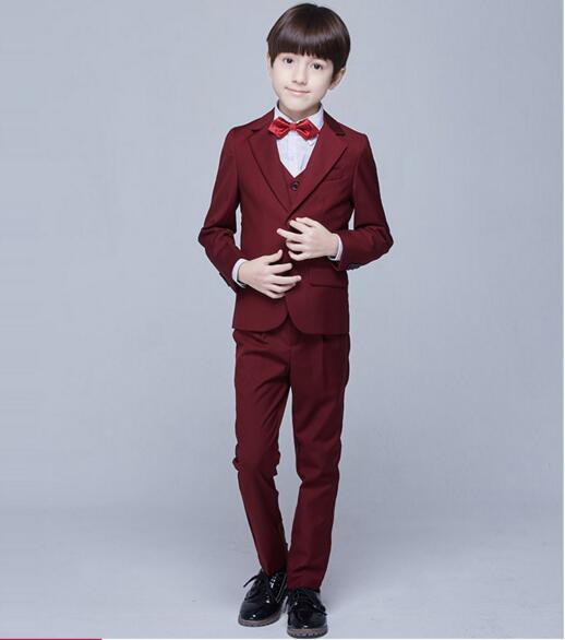 2017 autumn solid color real kids tuxedos suit boys blazers for weddings prom wedding vest suit for children clothes for boys
