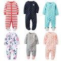 Macacão de bebê! nova Primavera Outono Recém-nascidos Roupa Do Bebê Da Menina do Menino Roupas da Longo-Luva de Algodão 0-12 M Do Bebê Dos Miúdos roupas
