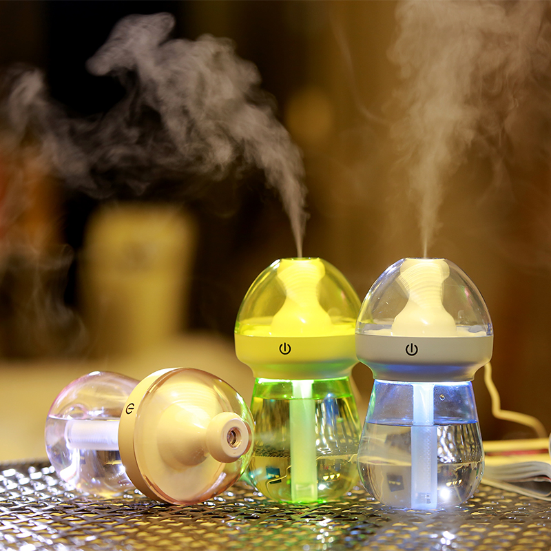 Portable USB 5V Cute Ultrasonic Air Humidifier Office Aroma Oil Diffuser Room Night Light Water Spray Bottle Air Humidifier