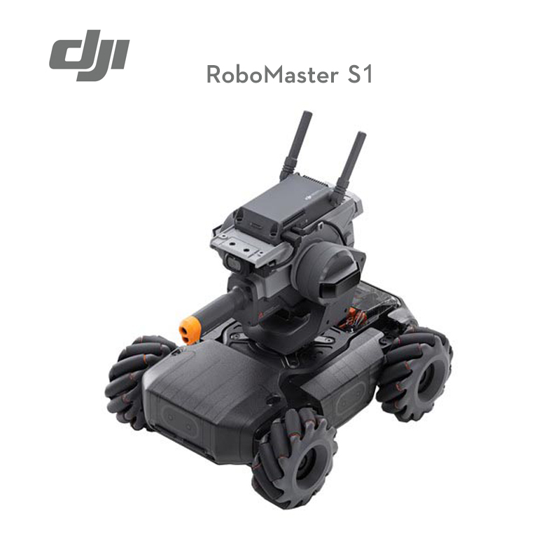 In stock DJI RoboMaster S1 is intelligent educational robot with AI Modules support Scratch Python Coding