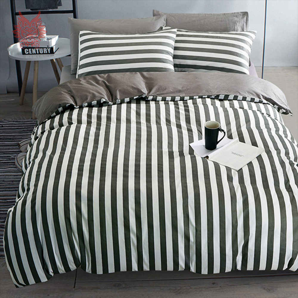 compare prices on bed sheet types online shoppingbuy low price  - geometric print bedding sets  pure cotton comforter cover set stripedduvet cover set bed