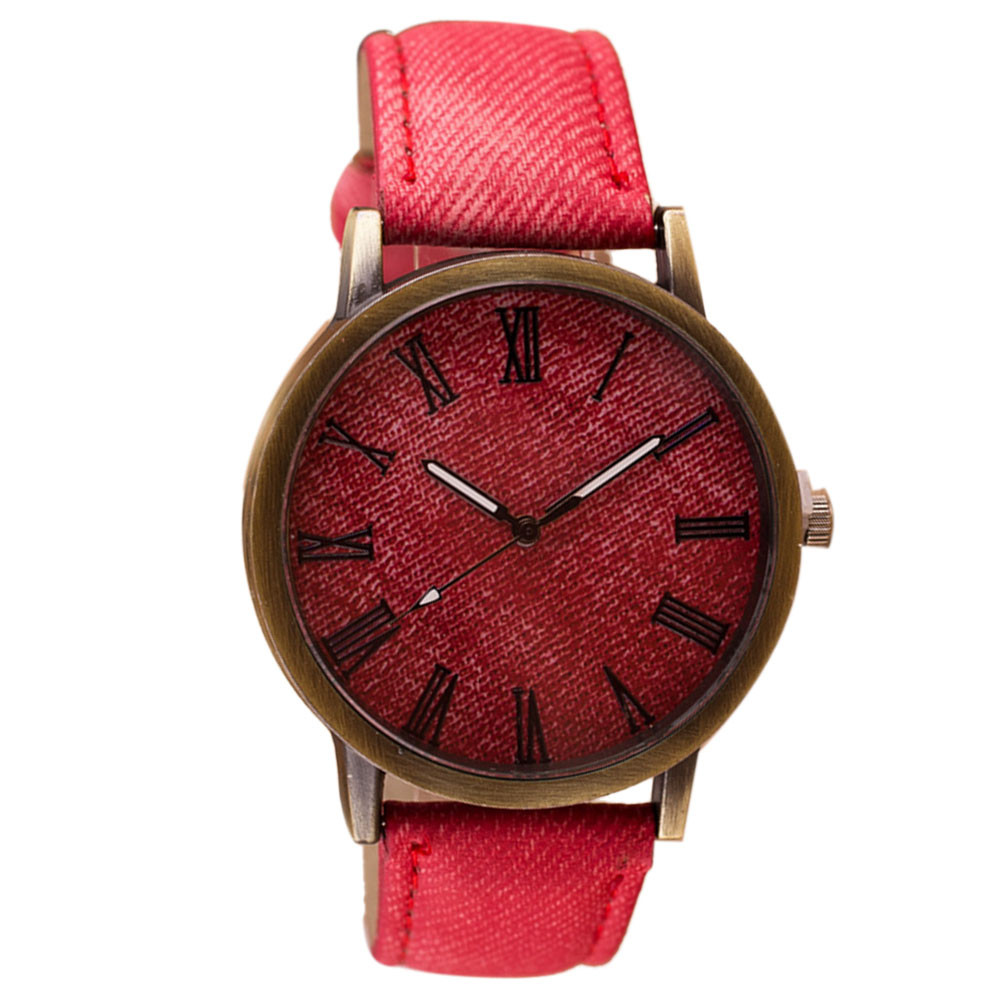 2018 Clock Fashion Women alloy Analog Quartz Wrist Watch leather round watches man new new attractive high quality new arrival women quartz dial clock leather wrist watch round case fashion women s sports watches