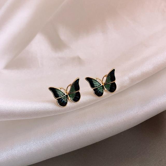 MENGJIQIAO New Korean Elegant Cute Butterfly Stud Earrings For Women Girls Simeple Lovely Boucle D oreille.jpg 640x640 - MENGJIQIAO New Korean Elegant Cute Butterfly Stud Earrings For Women Girls Simeple Lovely Boucle D'oreille Gifts