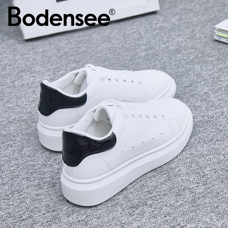 Bodensee Women Vulcanize Shoes New sneakers Autumn Soft Comfortable Casual Shoes Fashion Lady Flats Female Vulcanize shoes BX10