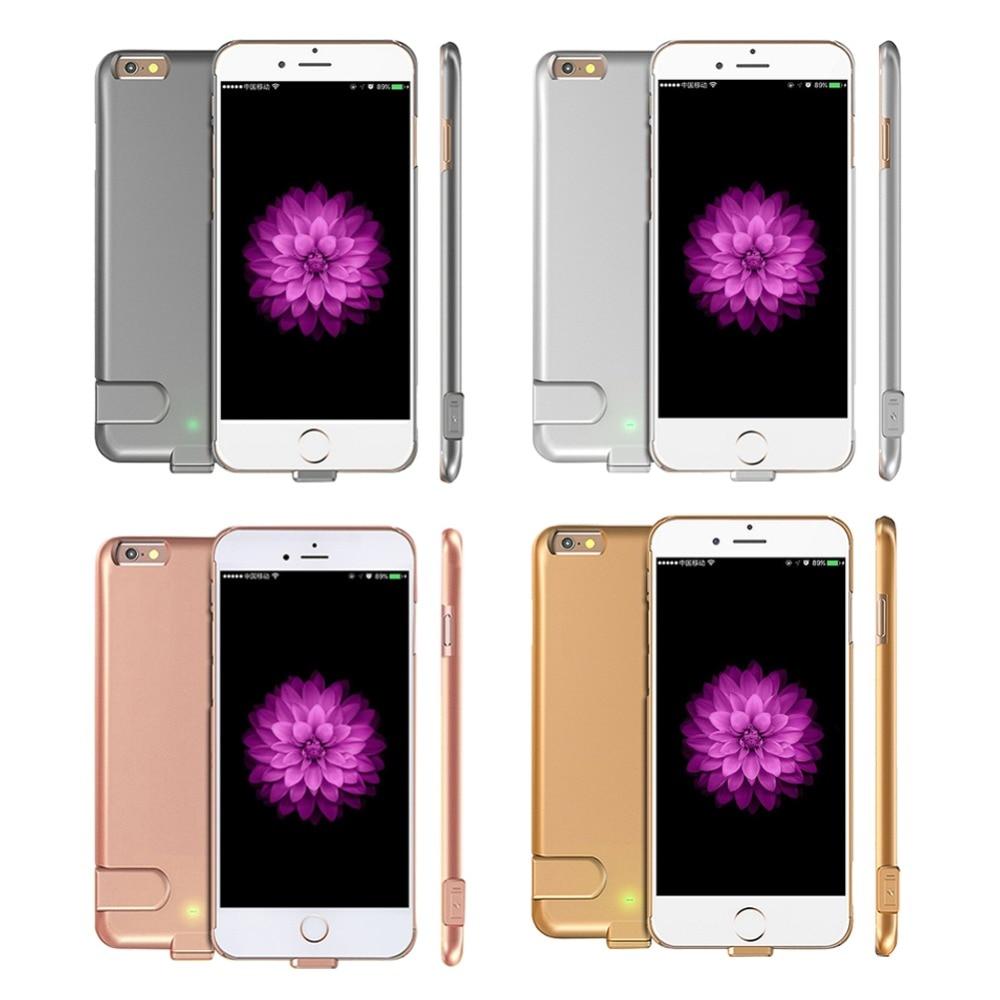 imágenes para 7 caja de la batería ultra delgado banco de potencia cubierta de carga para iphone 7 plus de lujo caso de la energía para iphone 6 6 s/6 plus/6 s plus