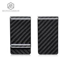 Monocarbon High Classจริง 3Kคาร์บอนไฟเบอร์เงินคลิปกระเป๋าสตางค์ฟรีรูปแบบคาร์บอนไฟเบอร์ผู้ถือโรงงาน