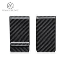 Monocarbon yüksek sınıf gerçek 3K karbon Fiber para klipleri cüzdan ile ücretsiz karbon Fiber desen tutucular fabrika doğrudan