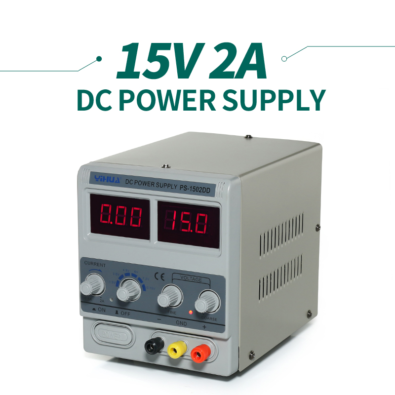 15 V Rework Station Adjustable Variable Laboratory Power Supply YIHUA 1502DD cps 6011 60v 11a digital adjustable dc power supply laboratory power supply cps6011
