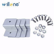 Willone 10 Sets Free Shipping Solar Panel Holder Silver Utility Metal Solid Z-Bracket