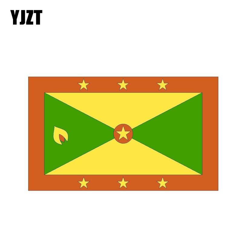 Autocollant drapeau Grenada Windows | Étiquette de personnalité, style humoristique, voiture, 15.6CM * 9.3CM, YJZT, 6-0797