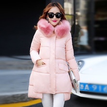 Free shipping brand 2016 winter cotton outerwear in the long coat slim Korean Ladies fashion outerwear keep warm padded on sale