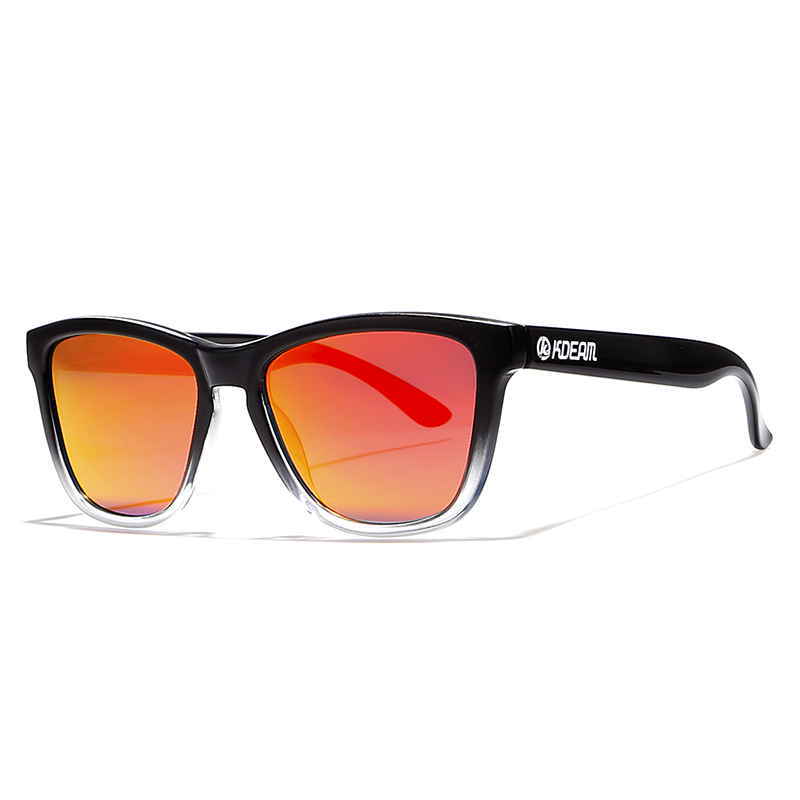 Lightweight Polarized Sunglasses Unisex Sleek Mirrored Shades By KDEAM Hollywood Star 39 s Street Sun Glasses With Hard Fabric Case in Men 39 s Sunglasses from Apparel Accessories