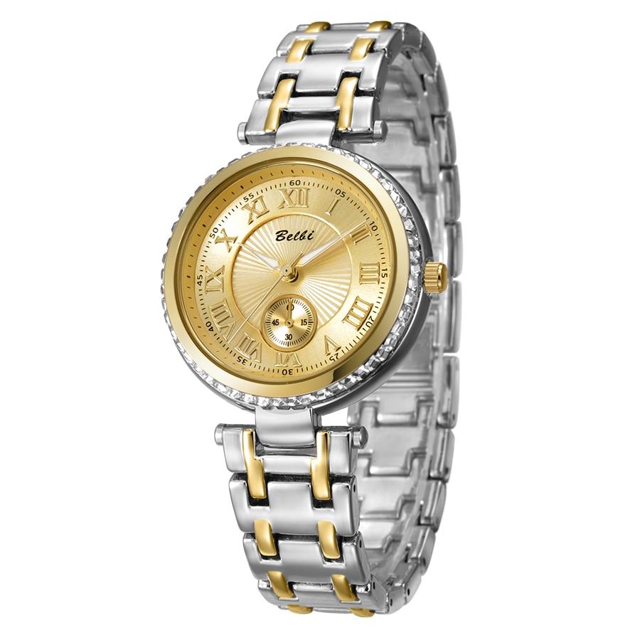 2016 Belbi 패션 로마 스타일의 손목 시계 레이디 스틸 - 여성 시계