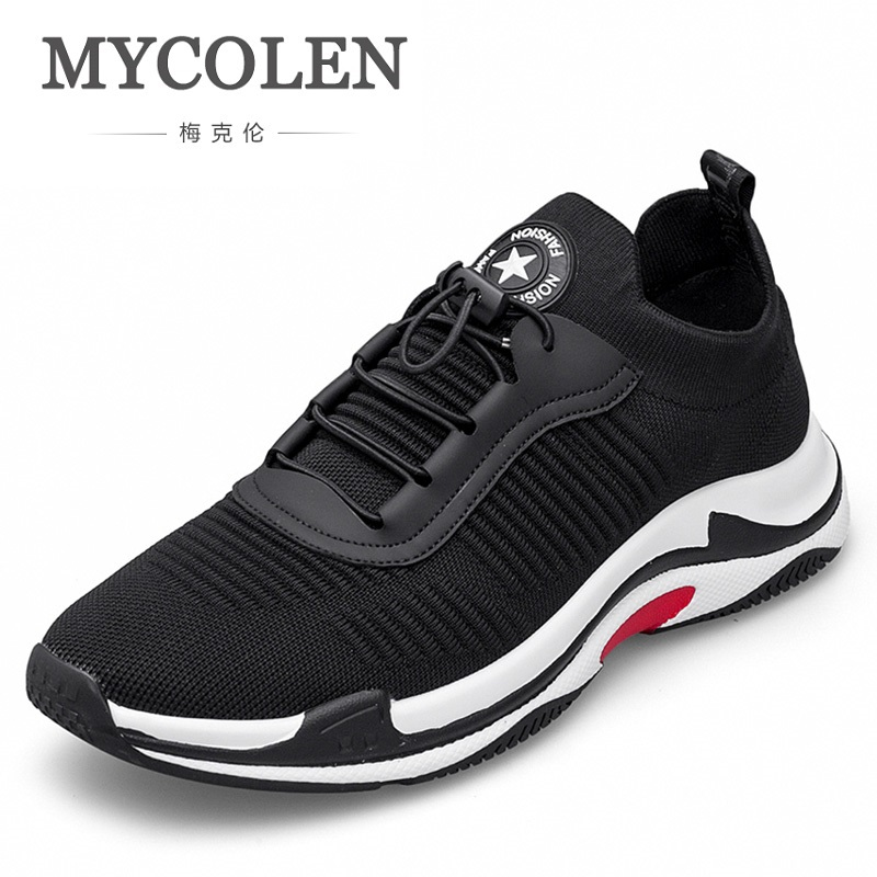 MYCOLEN Brand New Style Black Red Men Shoes High Quality Lace Up Fashion Men Casual Shoes Lace Up Men Casual Shoes Tenis Preto new men casual shoes soft leather men high top shoes fashion lace up breathable hip hop justin kanye west shoes red black white