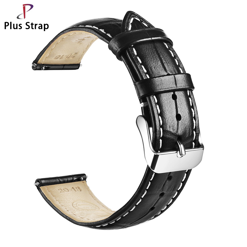18/20/21/22/24 Mm Men Women's Leather Watchband Easy To Install Automatic Bars Watch Strap Black Brown Watch Band
