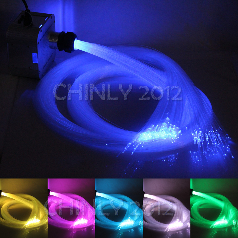 New 32w Rgb 4 Level Sd Le Led Fiber Optic Light Kit 600pcs 4m 0 75mm 28key Rf Remote In Lights From Lighting On