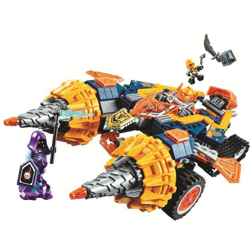 10703 BELA Nexo Knights Axl's Rumble Maker Model Building Blocks Enlighten DIY Figure Toys For Children Compatible Legoe Nexus 10639 bela city explorers volcano crawler model building blocks classic enlighten diy figure toys for children compatible legoe