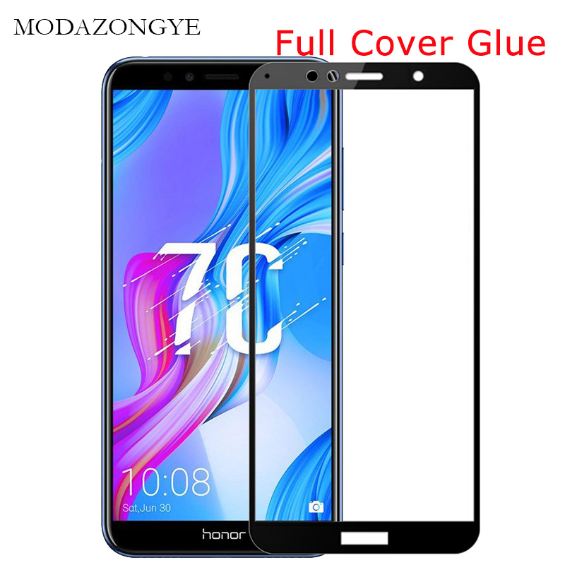 Tempered Glass Honor 7C Screen Protector Honor 7C For Huawei Honor 7C 7 C AUM-L41 Russian Version 5.7 Inch Full Cover Glue