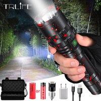 10000linterna LED recargable E17 L2 T6 de aluminio impermeable linterna Zoomable linterna de luz linternas de uso de batería 18650