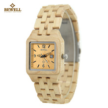 BEWELL Watch Hot Sell Maple Wood Watches Vintage Watch Ladies Quartz Watch  Women Casual Wood Wristwatches With Paper Box W130A