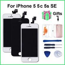 AAA איכות LCD עבור iPhone 5 5C 5S SE החלפת מסך תצוגת Digitizer מגע מסך עצרת עבור iPhone 6 LCD מסך