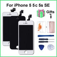 AAA kalite LCD iPhone 5 için 5C 5S SE yedek ekran sayısallaştırıcı dokunmatik ekran meclisi iPhone 6 LCD ekran