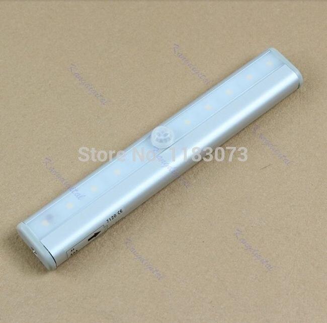 Household Smart Motion Closet Cabinet Light Lamp 10 LED Wireless Sensor Switch Convenient High Efficiency Detector Night Light