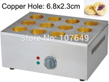 Commercial Use Copper Hole 220v Electric 12pcs Japanese Dorayaki Red Bean Cake Maker Baker Machine