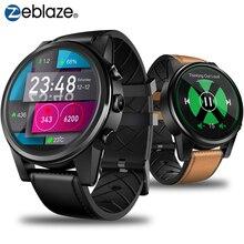 Zeblaze THOR 4 PRO 4G SmartWatch 1.6 pouces Affichage à Cristaux GPS/GLONASS Quad Core 16 GB 600 mAh hybride Bracelet En Cuir montre connectée Hommes