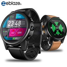 Zeblaze THOR 4 PRO 4G SmartWatch 1.6 inch Crystal Display GPS/GLONASS Quad Core 16GB 600mAh Hybrid Leather Strap Smart Watch Men(China)