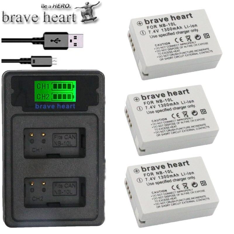sx40 hs batería Batería para Canon nb-10l nb10l Canon PowerShot g1 X