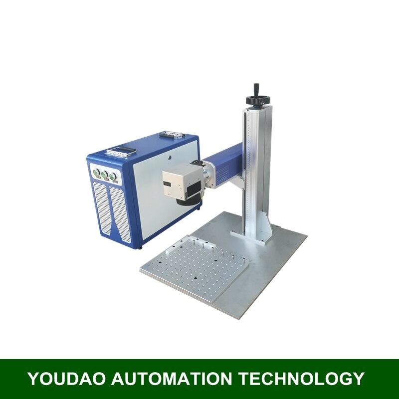 Machine de marquage laser de fiber fendue maximum de 20 W raycus pour le graveur de laser en métal de CNC en aluminium en laiton d'acier inoxydable de ruban d'or