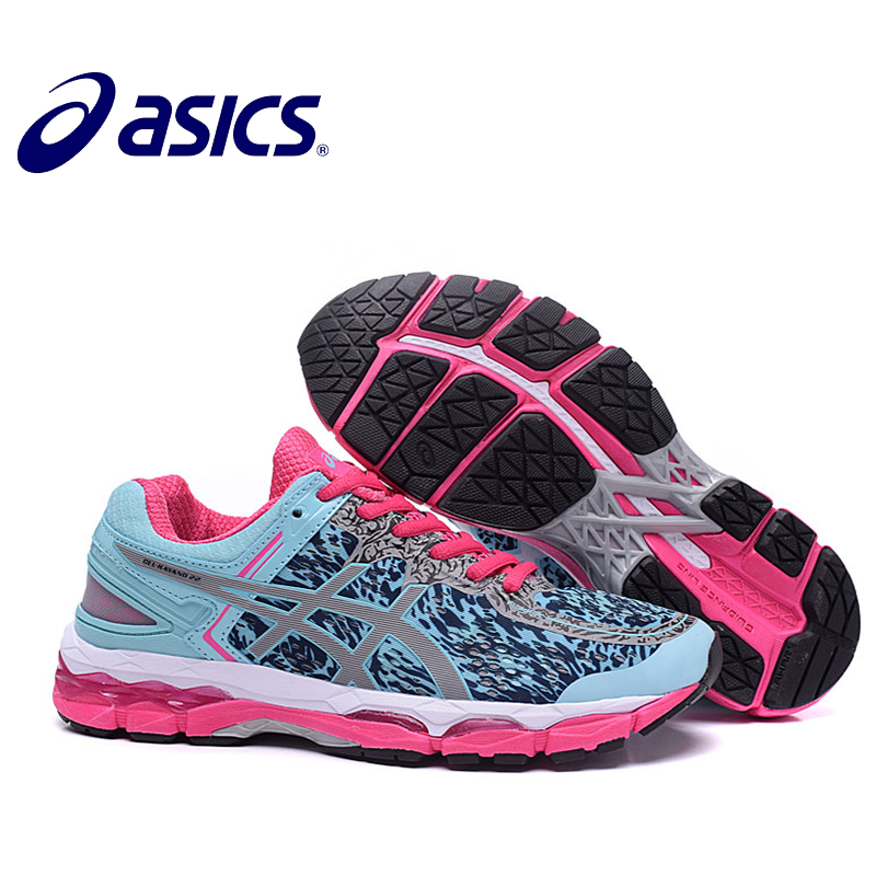 2018 Orginal ASICS GEL-KAYANO 22 Women s Cushion Sneakers Comfortable  Outdoor Athletic Running shoes Hongniu 58cba276ccf5