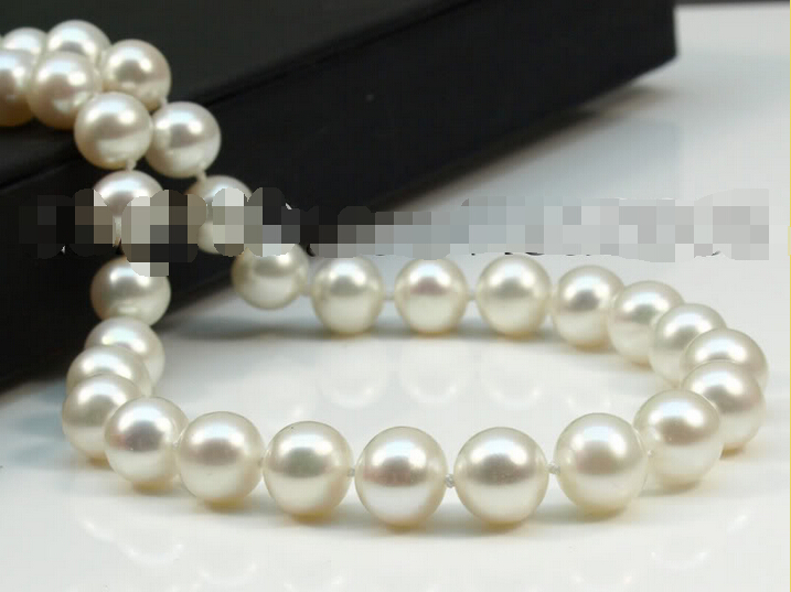 """shipping grade AAA 7-8mm lovely white akoya cultured pearls necklace 17.5"""" 14k/585 clasp"""