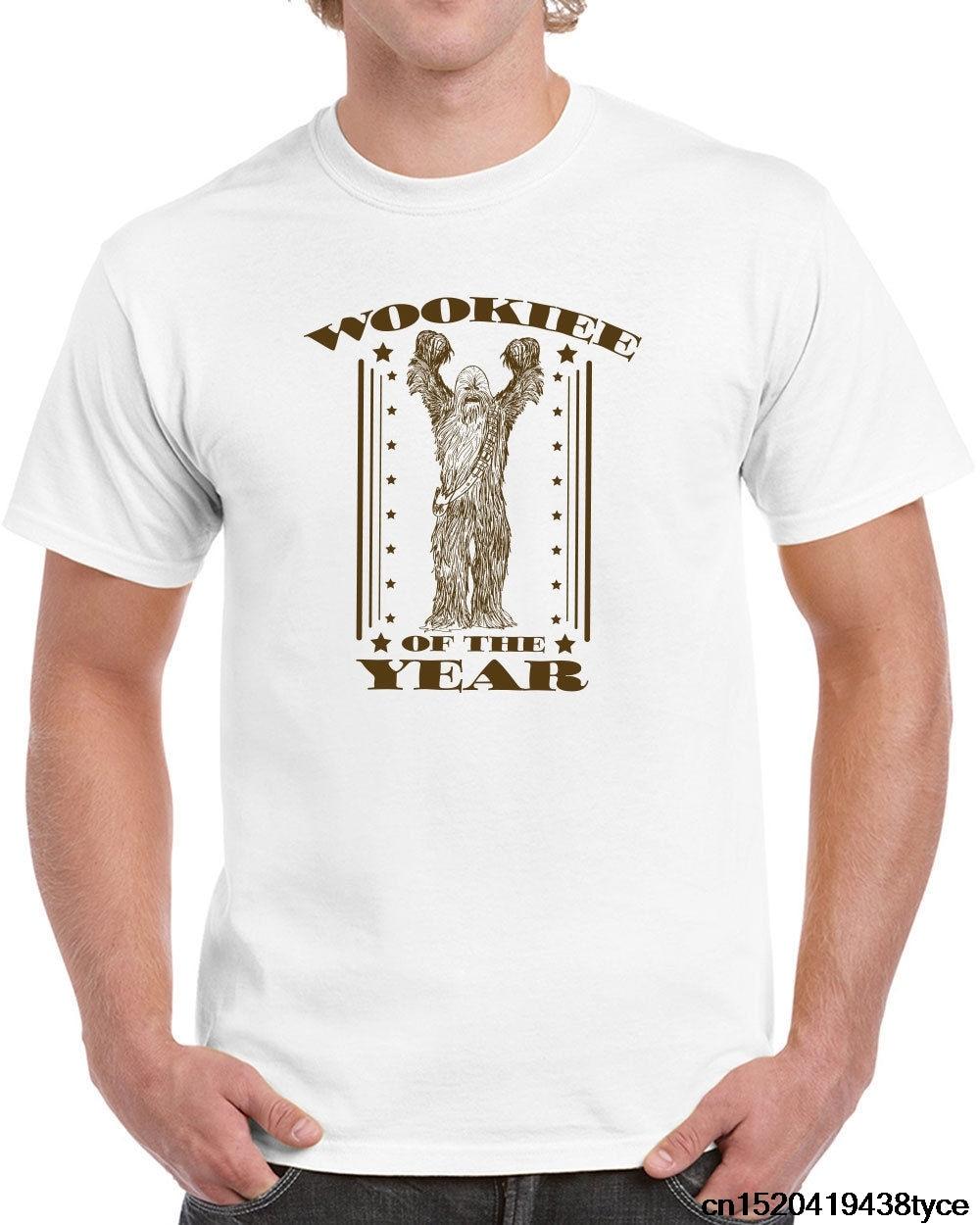 240 Wookiee of the Year mens T-shirt chewbacca wars geek star funny wars vintage