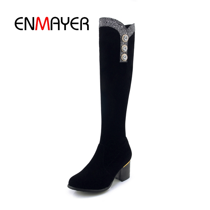 ENMAYER Women Knee High Boots Thigh High Boots Stretch Slim Sexy Fashion Female Shoes ZYL1736ENMAYER Women Knee High Boots Thigh High Boots Stretch Slim Sexy Fashion Female Shoes ZYL1736