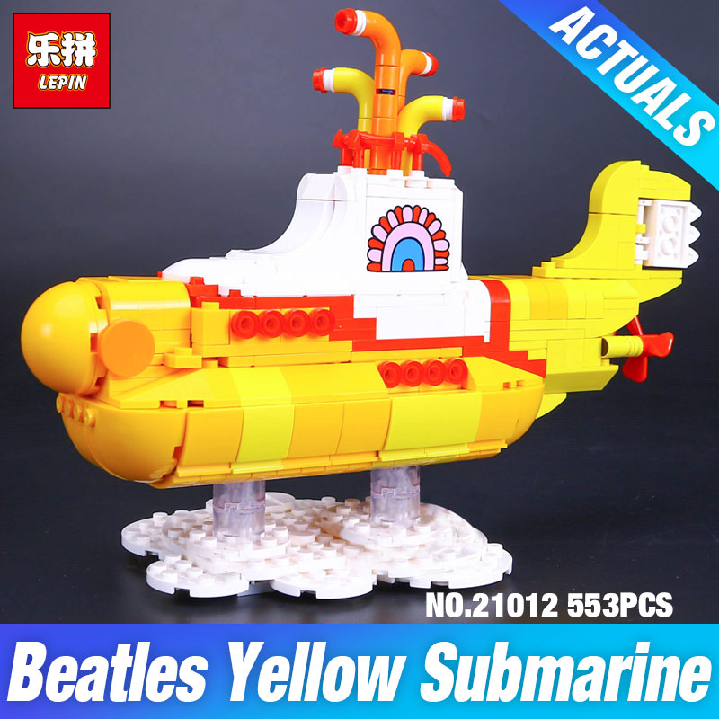 Lepin 21012 The Beatles John Winston Lennon Paul McCartney Harrison Ringo Starr Yellow Submarine Building Blocks Models DIY Toys lepin 21012 builder the beatles yellow submarine with 21306 building blocks bricks policeman toys children educational gift toys