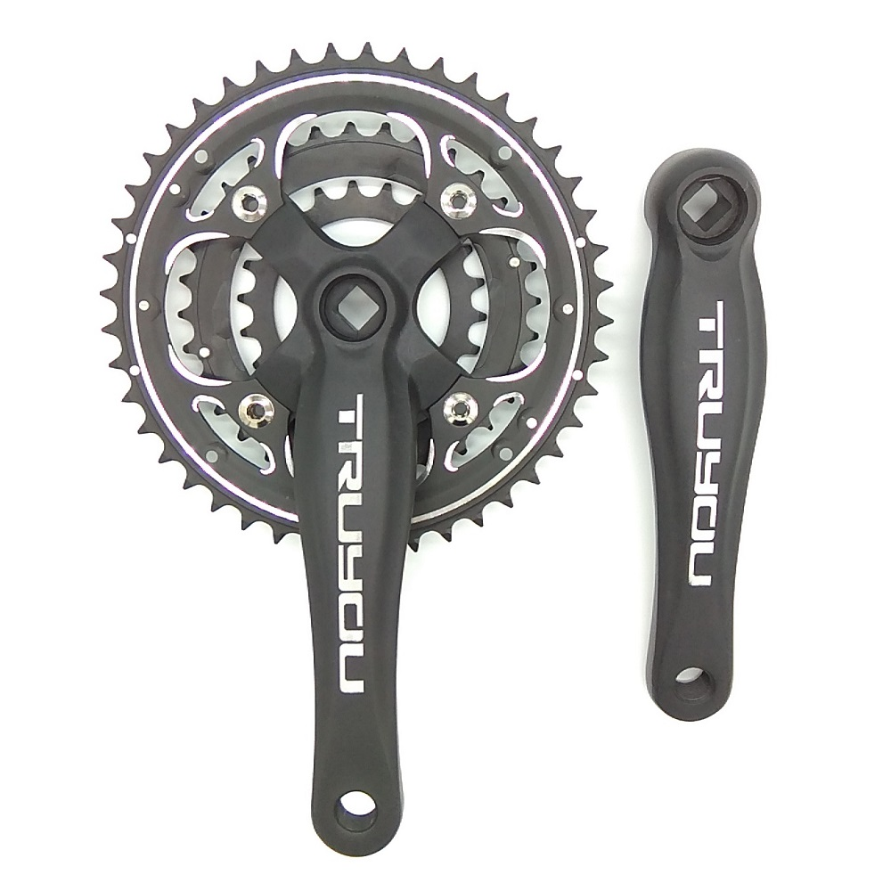 TRUYOU Mountain Bikes Chainring Crankset Aluminum Alloy Chain Wheel BCD 104MM 44T 32T BCD 64MM 22T Three Disc MTB Chainwheel bicycle crankset 22t 32t 42t mtb road mountain bike crank and chain wheel set 9 27 speed aluminum alloy crank suit
