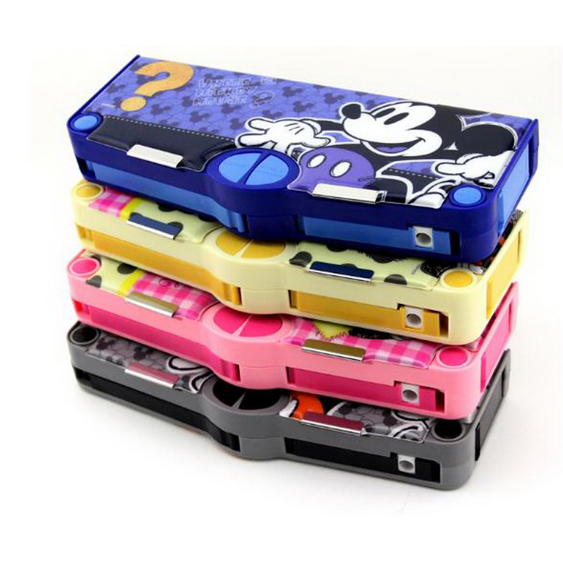 220806/Multifunctional stationery / children pencil case primary school kindergarten boys and girls plastic cute pencil case multifunctional pencil box cute cartoon style pencil case primary school children stationery box iron pencil box boys and girls