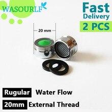 WASOURLF 2PCS M20 male thread tap bubble faucet external aerator brass kitchen basin bathroom regular free shipping wholesale