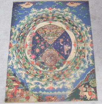 35.46'/Unusual each Tibetan thangkas hand painting;Various gods peace elephants