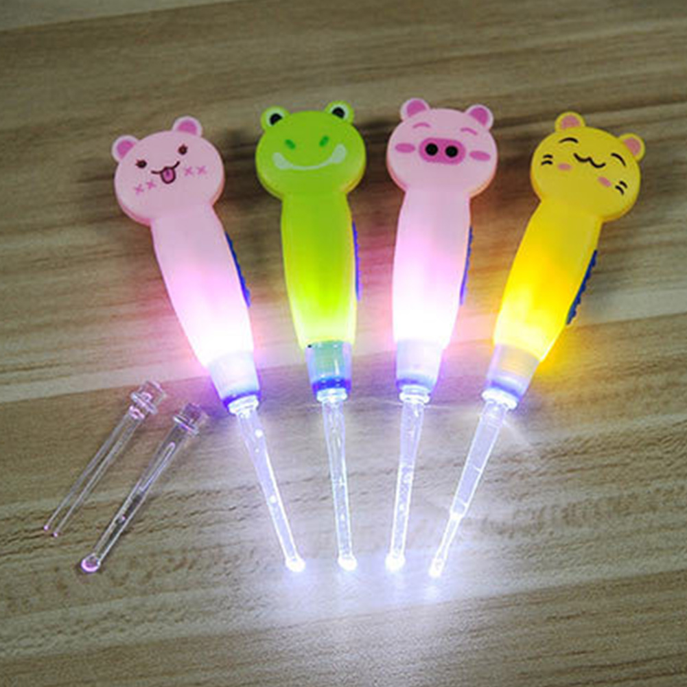 LED Luminous Light Baby Ear Spoon Ear Cleaner Children Baby Care Ears Cleaning With Light Earwax Spoon Digging Ear Care Tool